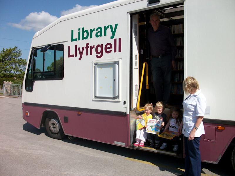 Visit from the Library Van